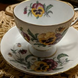 Tuscan Tea cup and saucer pansy
